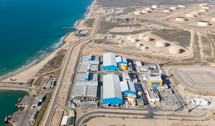 IDE's Israel seawater RO desalination plant sets world