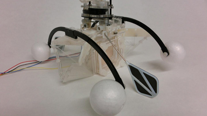 Row-bot with mouth open. Credit: Hemma Philamore, University of Bristol/BRL