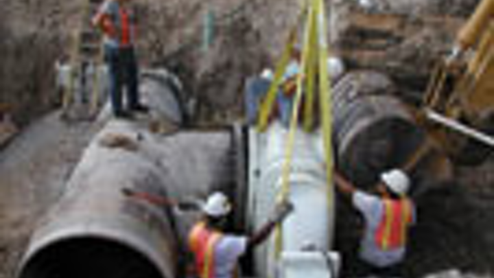 Hobas Pipe Mating To Flange