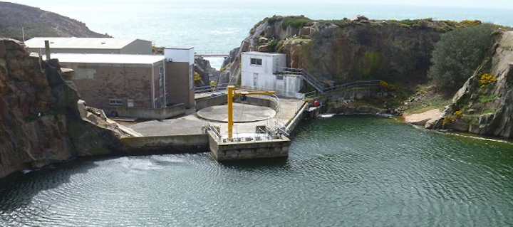 Quarry Pool Jersey Where Seawater Is Stored Before Treatment Medium