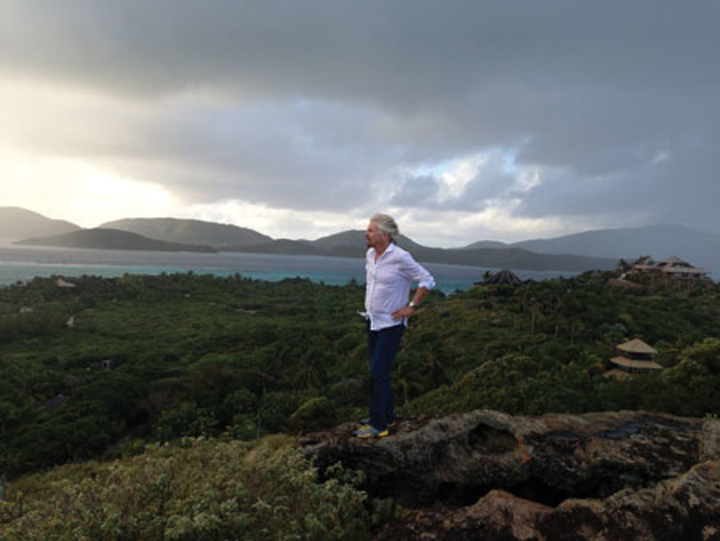 Richard Branson On Necker Island
