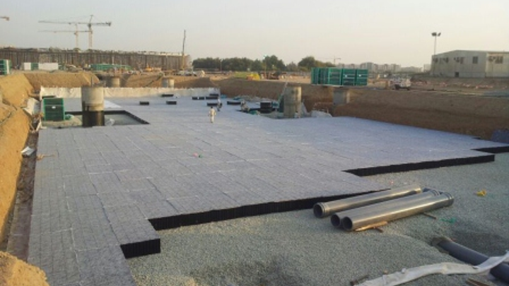 Stormwater Storage Under Construction For The Al Haramain Project