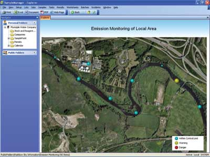 Thermo Water And Environmental Image Emission Monitoring Of Local Area 300dpi