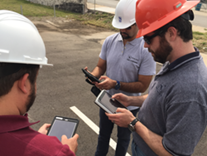 Tetra Tech field members using the iFormBuilder platform to collect, manage, and visualize data.
