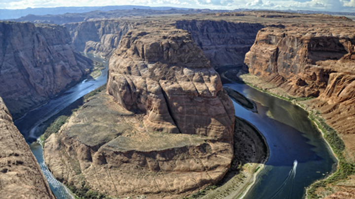 Horseshoe Bend on the Colorado River.