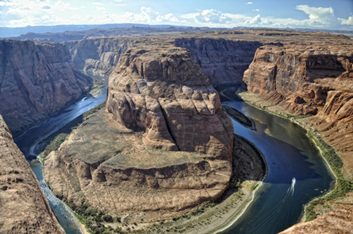 Horseshoe Bend on the Colorado River.