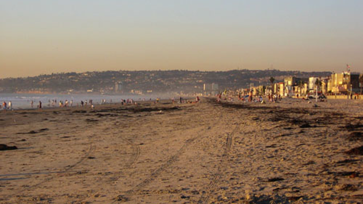 Mission Beach, San Diego, was closed after raw sewage leaked into the water.