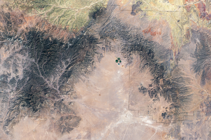 Satellite image of San Augustin Plains, Wikipedia.