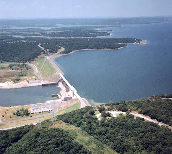 Eufaula Lake and Dam, Oklahoma. Photo: USACE.