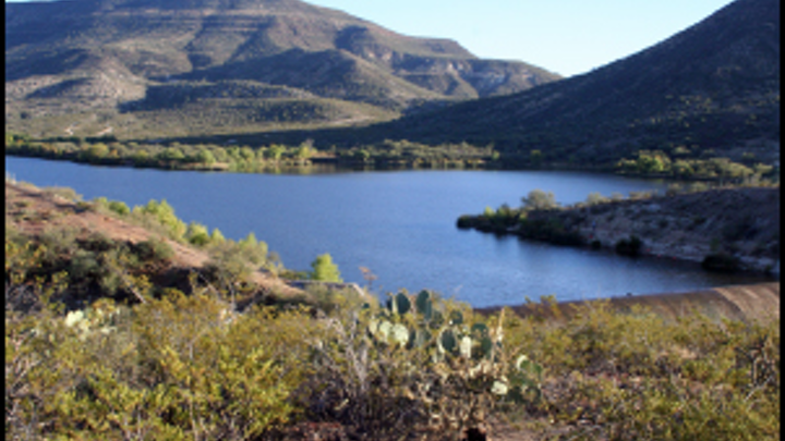 Talkalai Lake on the San Carlos Apache Reservation. Photo: Arizona Department of Water Resources.