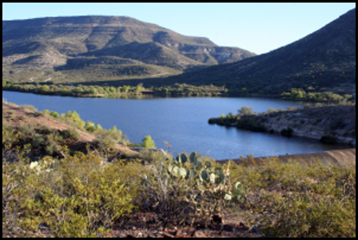 Talkalai Lake on the San Carlos Apache Reservation. Photo: Arizona Department of Water Resources.