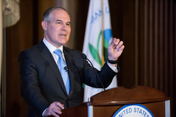 EPA Administrator Scott Pruitt addressed members for the first time. Photo: U.S. EPA.