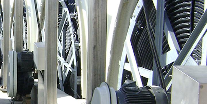 Evoqua's Rotating Biological Contactors. Photo: Evoqua.
