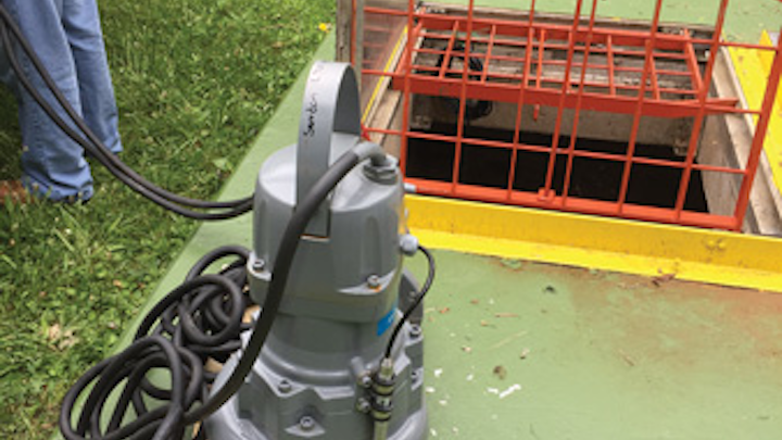 Content Dam Ww Print Articles 2017 02 1701wwcas P01 New Flygt Concertor Pump Ready For Installation In Lift Station 13