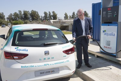 SEAT and Aqualia create the first 100% Spanish alternative fuel from waste water. (PRNewsfoto/SEAT)