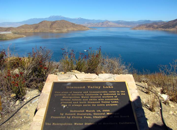 Diamond Valley Lake. Photo: Wikimedia Commons.