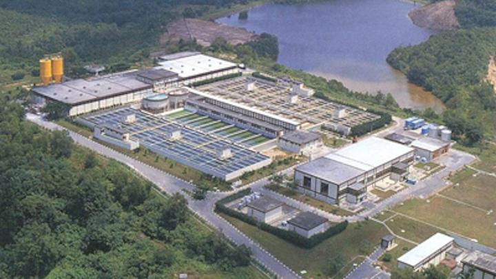 The Choa Chu Kang Waterworks Facility in Singapore.Photo: United Engineer Group