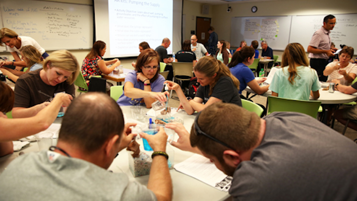 Groundwater Foundation works with students on water quality project. Photo: EPA.