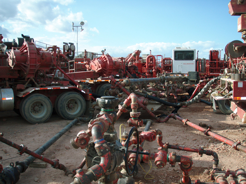 Frack job. Courtesy: Wikimedia Commons.