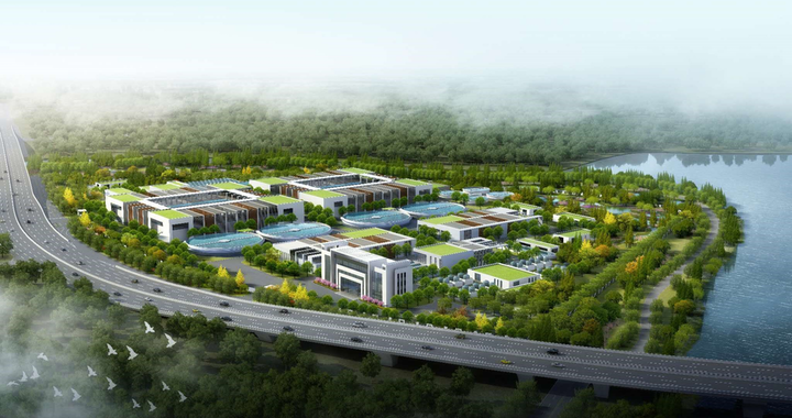Scheme of the wastewater treatment plant in Chengdong area, Changshu. Photo: SUEZ