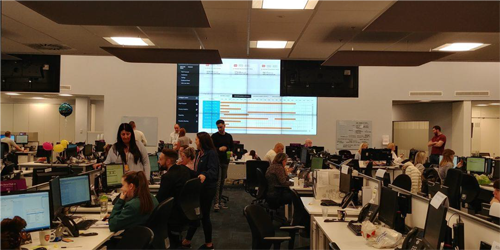 EMAGIN's AI technology (HARVI) live in the Integrated Control Centre at UU.