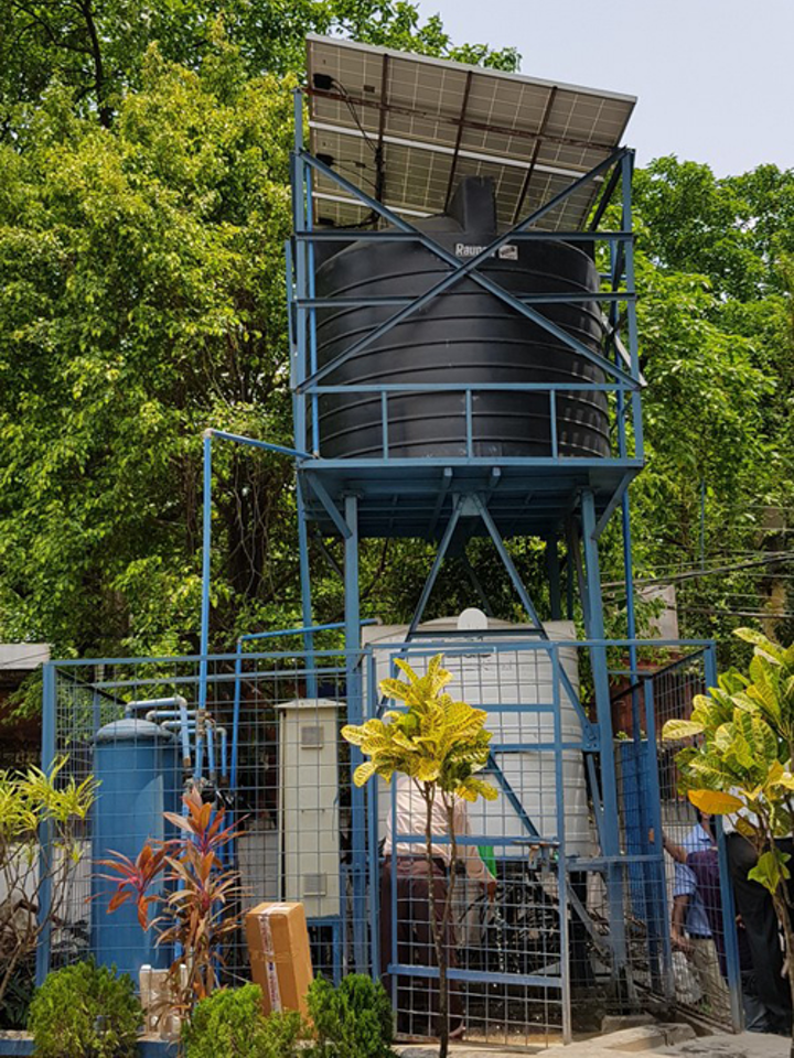 A solar-powered Hydro-dis pilot plant just out of Kolkata.