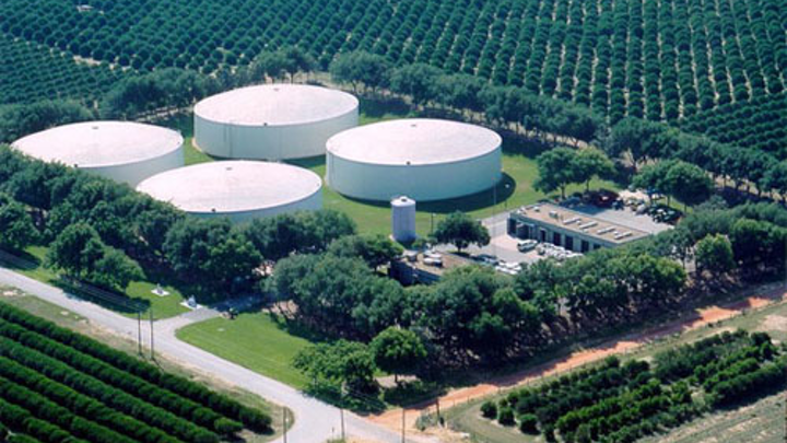 Aerial view of Water Conserv II distribution center.