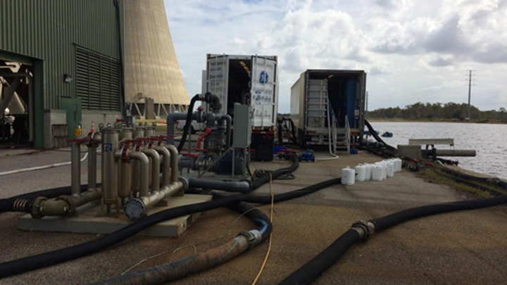 GE mobile water systems at the Orlando Utilities Commission's Curtis H. Stanton Energy Center.