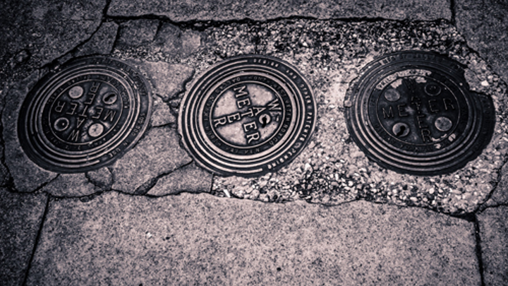 Water meter covers in the city of Tyler, Texas. Photo: Wikimedia Commons.
