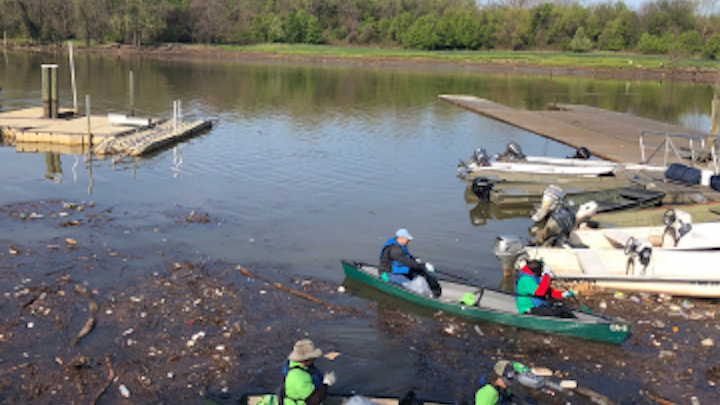 Earth Day cleanup with CWP in the Anacostia. Photo courtesy Business Wire.