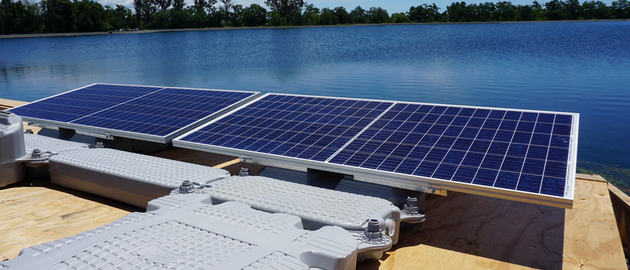 Installation of 1.78 megawatt 'floatovoltaic' system will fulfill 90% of energy needs for Calif. utility by using sustainable solar power.