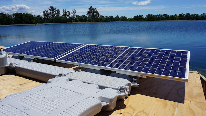 """Installation of 1.78 megawatt """"floatovoltaic"""" system will fulfill 90% of energy needs for Calif. utility by using sustainable solar power."""
