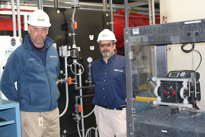 SUEZ Water South Jersey employs Blue-White's Pro-Series-M® MD-3 Dual Diaphragm Metering Pumps, which can be used successfully in high-pressure applications.