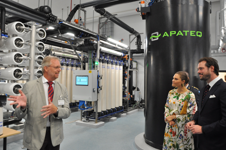 APATEQ CTO Ulrich Bäuerle, H.R.H. Viktoria, Crown Princess of Sweden, H.R.H. Prince Félix of Luxembourg