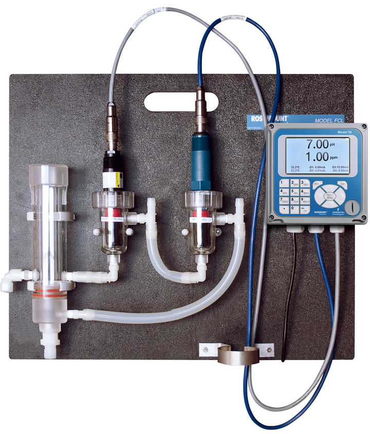 The Rosemount™ FCL Free Chlorine Measuring System from Emerson is a complete system that measures free chlorine in fresh water.