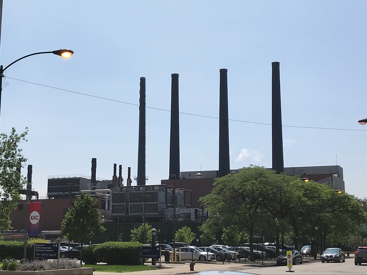 UIC West steam plant, which services the west side of the UIC campus and the two hospitals. It also provides chilled water for the west campus and UIC hospital.