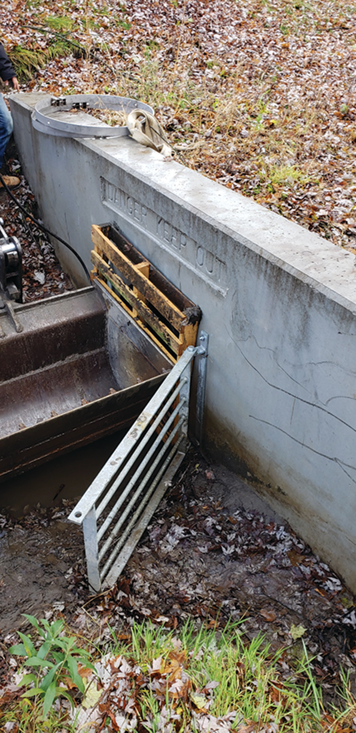 The 790 duckbill was a cost-effective way of reducing flooding in a small residential area.
