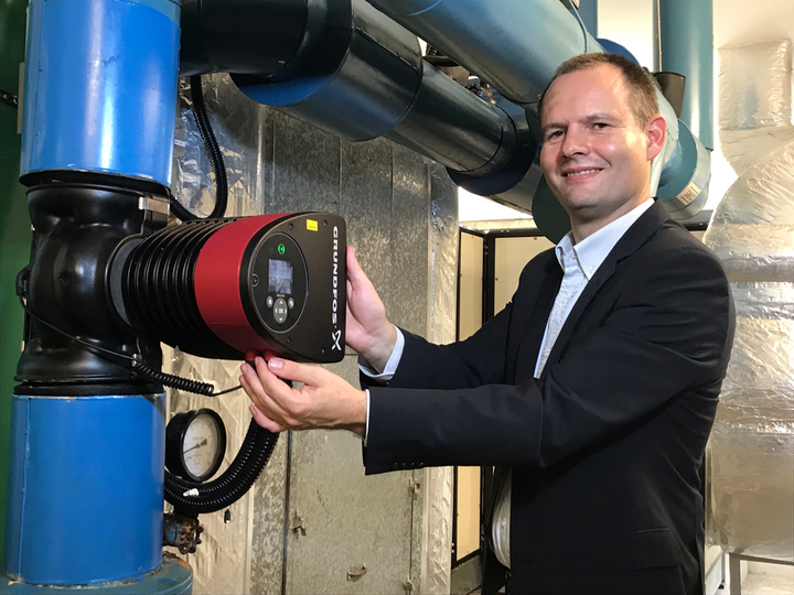 Anders Christiansen, Regional Business Director, Building Services for Grundfos Asia Pacific with Distributed Pumping System.